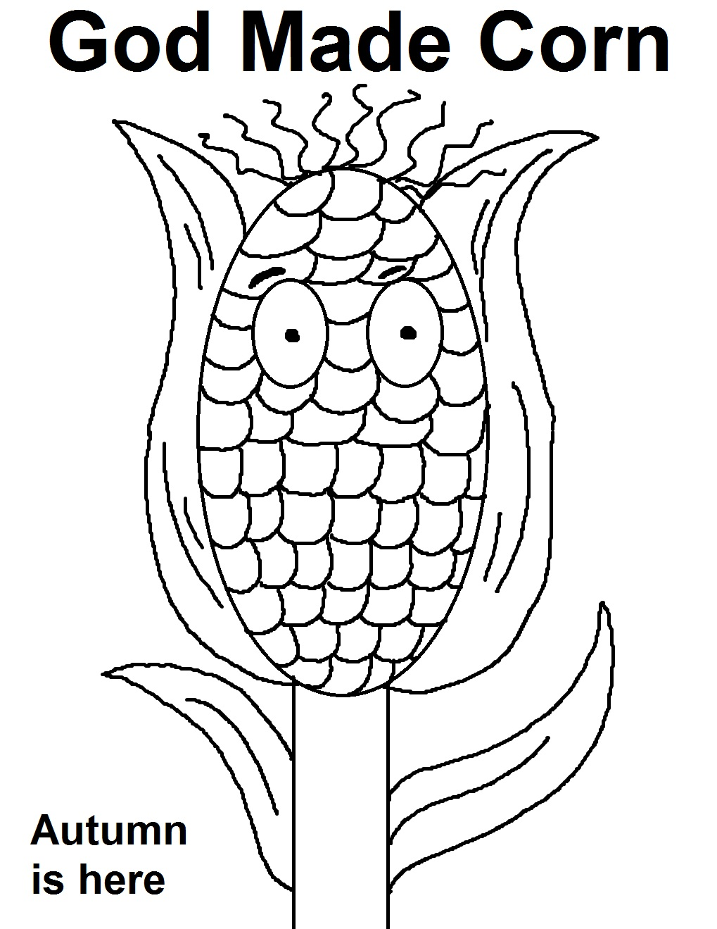 Harvest Corn Coloring Page God Made Corn Coloring Page