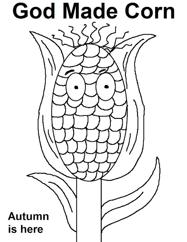 god made corn coloring page just print this fun coloring page off for  title=