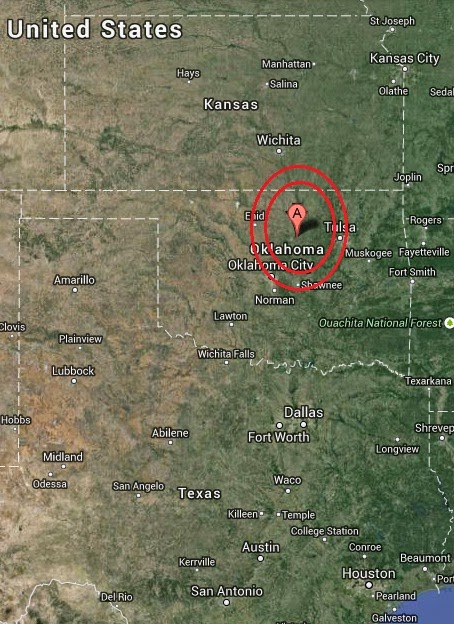 Magnitude 3.9 Earthquake of Guthrie, Oklahoma 2014-09-19