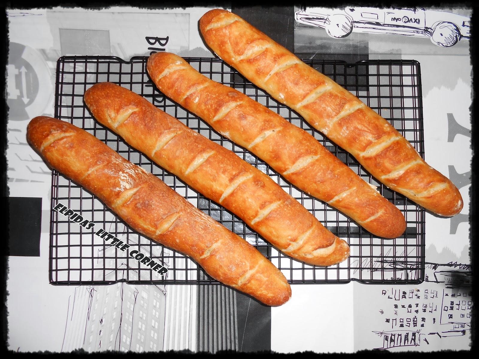 Χωρίς Ζύμωμα Μπαγκέτα – Ψωμί!!