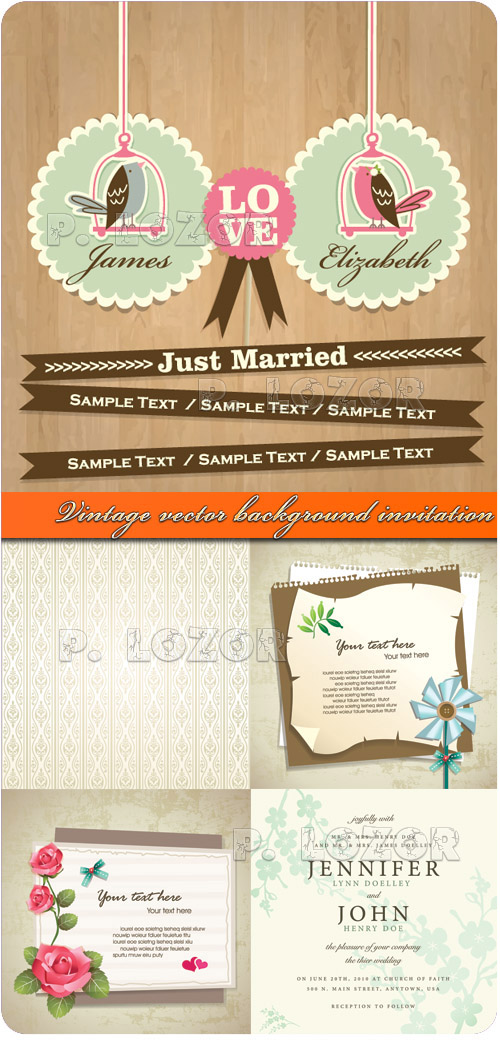 wedding invitation card template .
