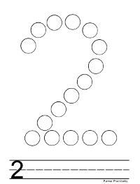 Number Dot To Dot Worksheets