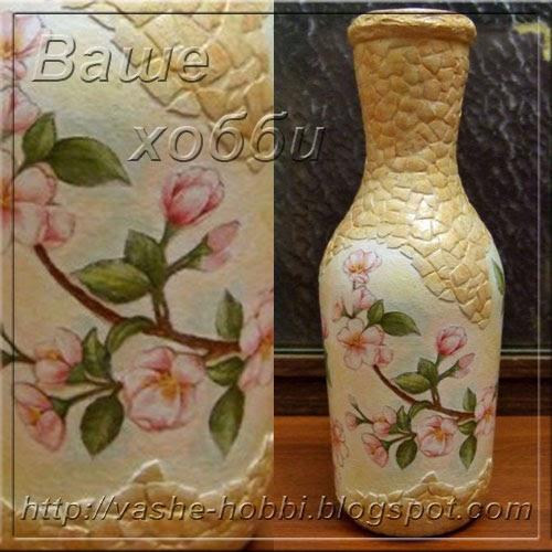 Сделать вазу своими руками декупаж