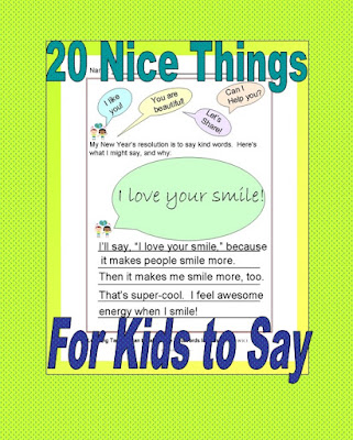 Teacher ink 20 nice things for kids to say - Really nice things ...