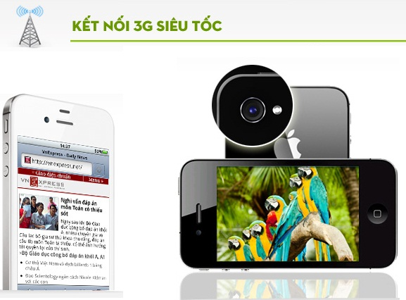 hkphone 4s 3g kết nối 3G siêu tốc