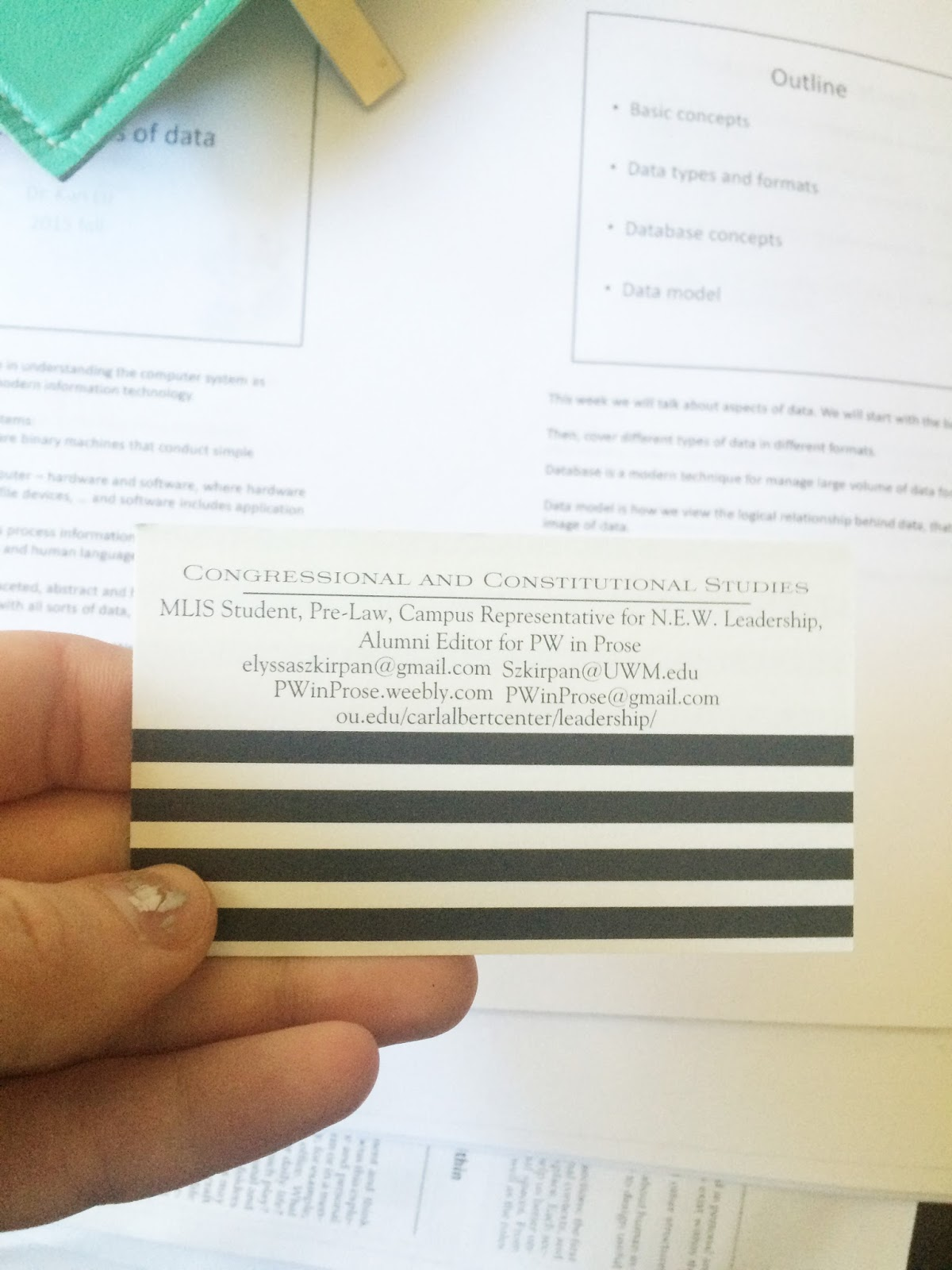 The littlest archivist work it wednesdaysbusiness cards five rules for designing your own business cards reheart Gallery
