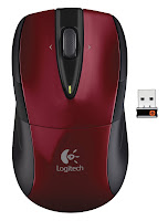 red logitech wireless mouse m525