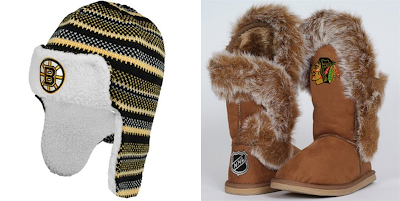 Reebok Boston Bruins NHL Knit Trooper Hat / Cuce Shoes Chicago Blackhawks NHL Fanatic Boots
