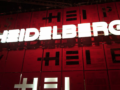 heidelberg sign at drupa print media fair 2012