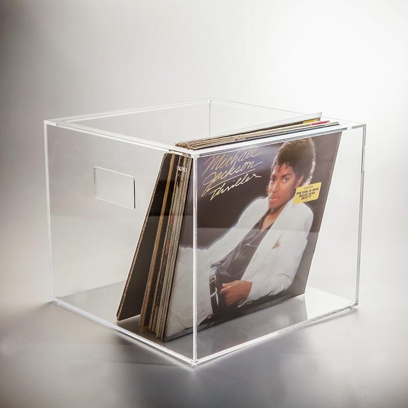 Box contenitore porta dischi vinile 33 giri in plexiglass