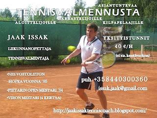 tennisvalmennus jaak issak helsinki