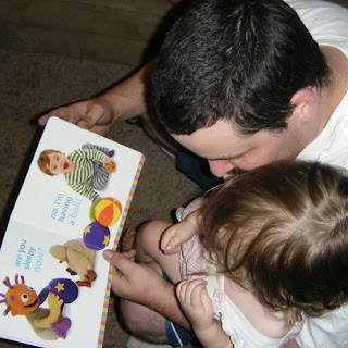 Daddy reads to Sasha