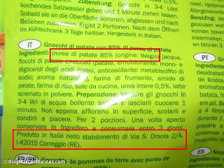 Ñoquis de patata DANIELI de Lidl