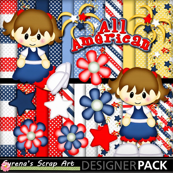 All American Girl Digital Scrapbook Kit