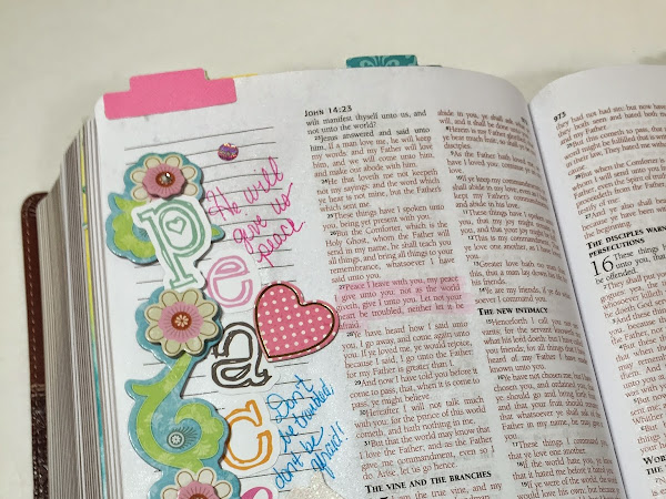 ABC Bible Journaling Challenge Week 2 | John 14:27