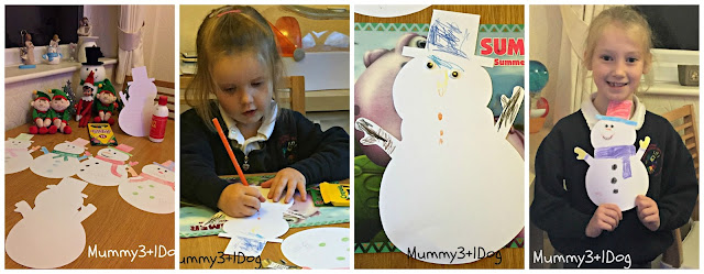 colouring in snowman