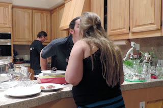 Mom And Dad Find Time For A Kiss
