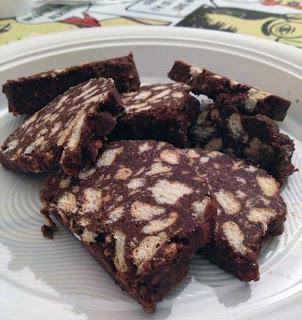 salame di cioccolato col cacao