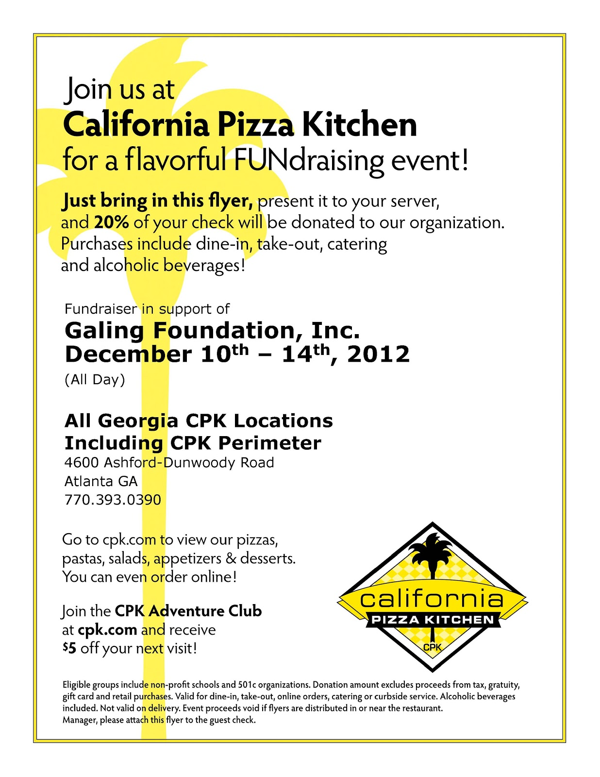 Galing (Great) News: Dec. 10-14: California Pizza Kitchen ...