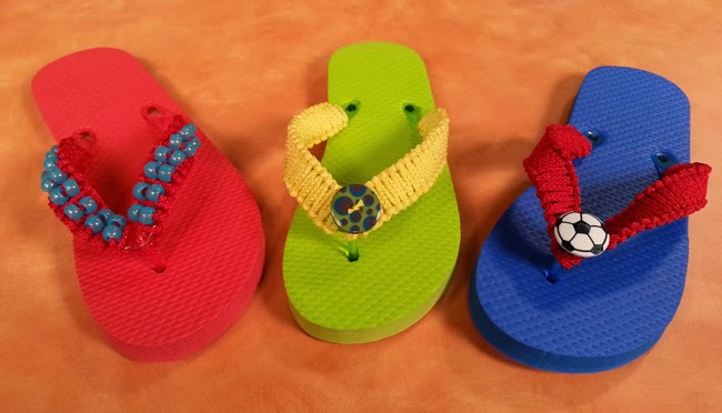 Make flip flops on Hands On Crafts for Kids