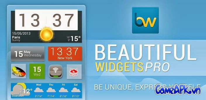 Beautiful Widgets Pro v5.7.3 Patched cho Android