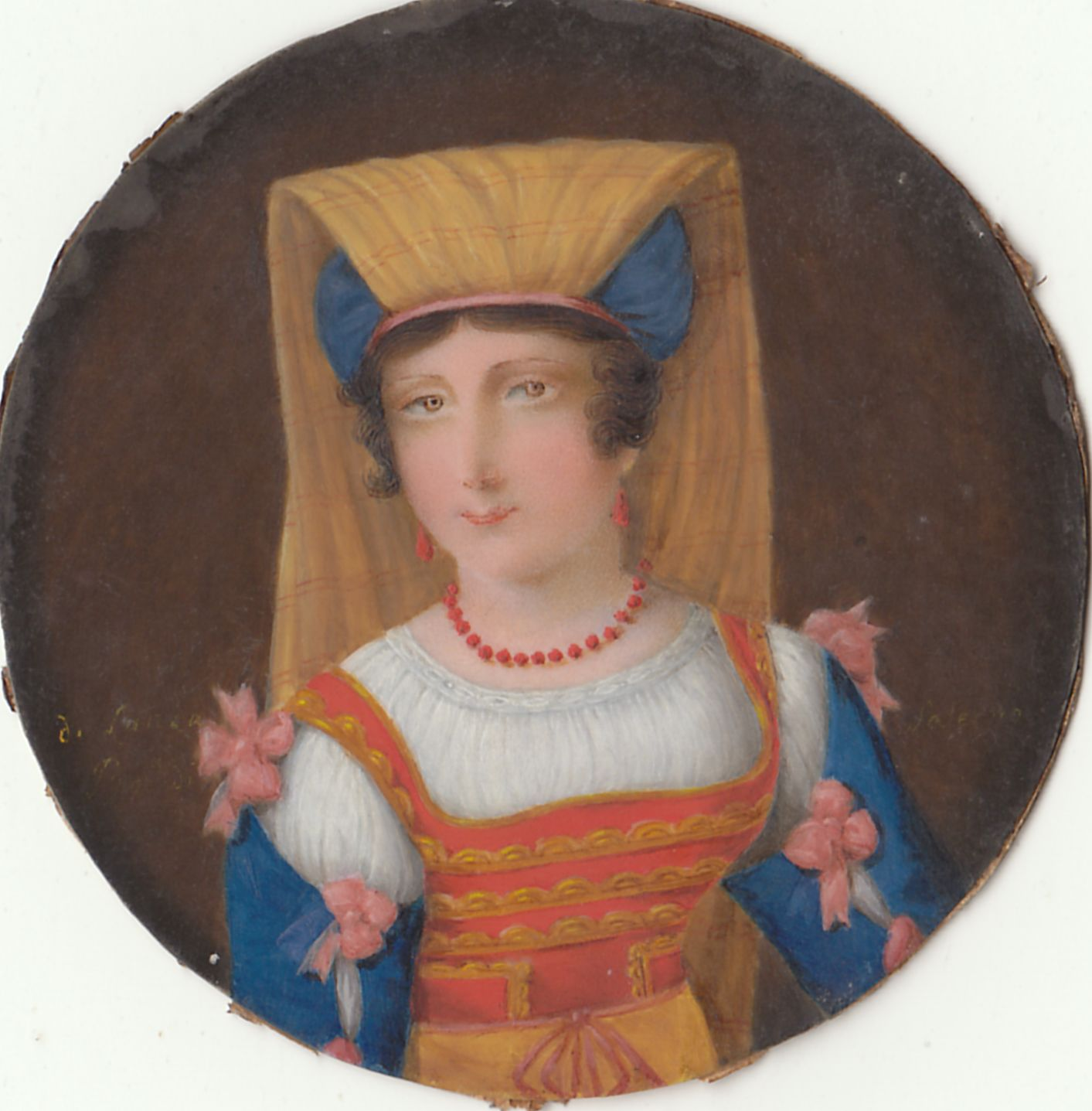 artists and ancestors miniature portrait art collection ds 1491 this fairly ordinary looking man has no great merit he is probably french and came from a local auction along the miniature on paper by john