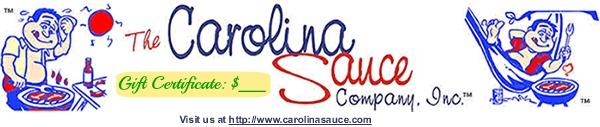 Carolina Sauce Gift Certificates