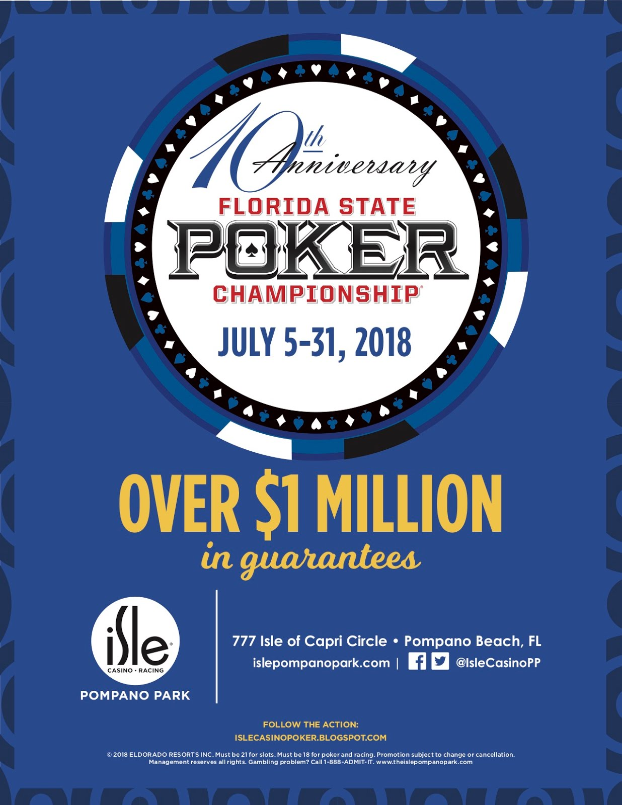 2018 Florida State Poker Championship (Structure Sheets)