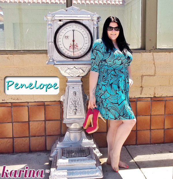 Karina Frockstar™- Penelope 3/4 Sleeve Dress in Seashell, with pockets.