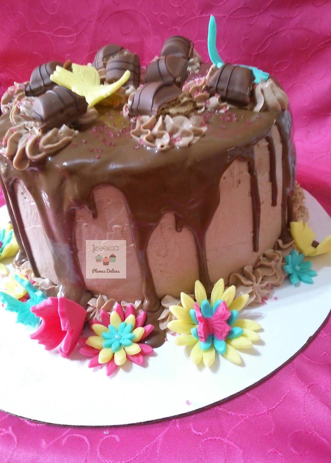 Plumes d lices le layer cake kinder bueno - Gateau deco kinder ...