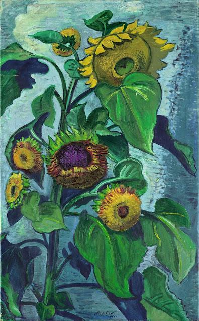 Hermmann Max Pechstein - Sonnenblumen,1931