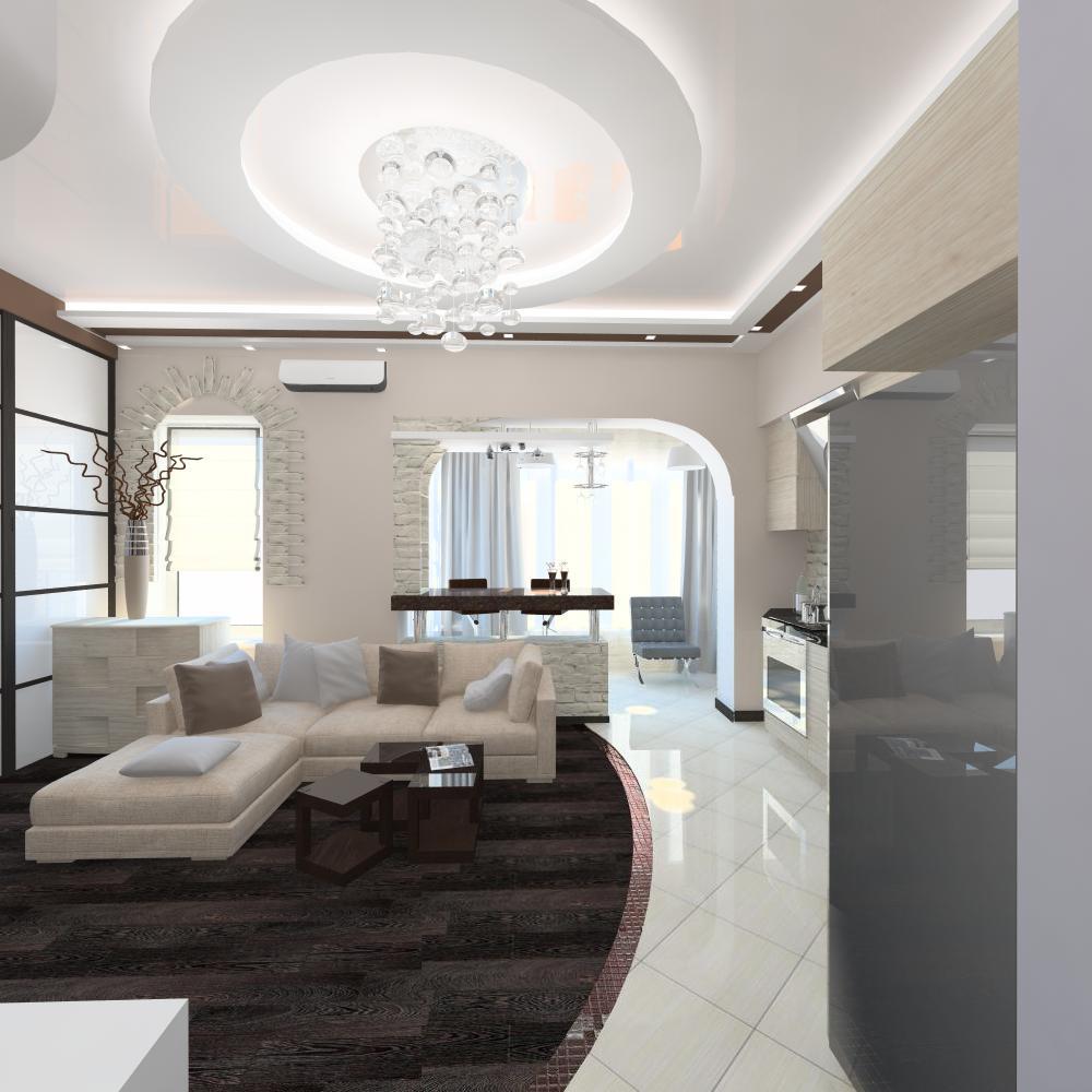 Дизайн однокомнатной квартиры 48