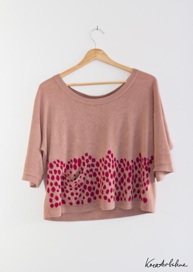 DIY Pullover bedruckt mit Druckertinte