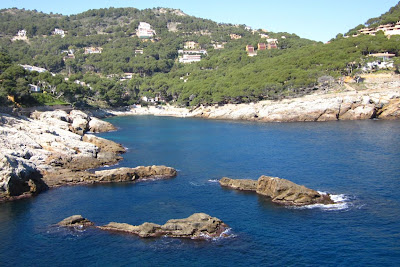 Aiguafreda beach in La Costa Brava