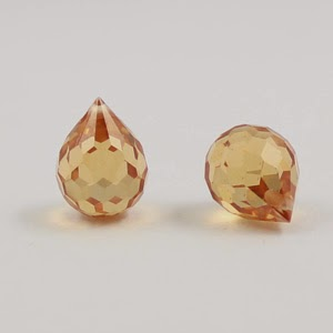 Onion Champagne CZ Beads