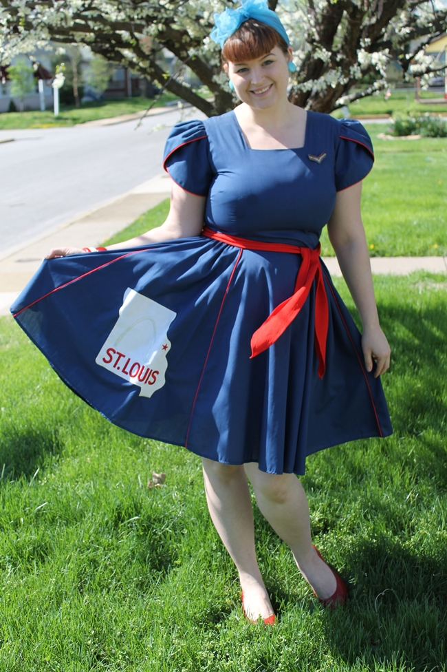 Va Voom Vintage St Louis Square Dancing Dress