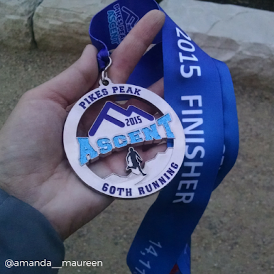 Pike's Peak Ascent, Pike's Peak, Race Medal, Altitude, Half Marathon, The Fit Dish, Tuesday Tales, Race Report