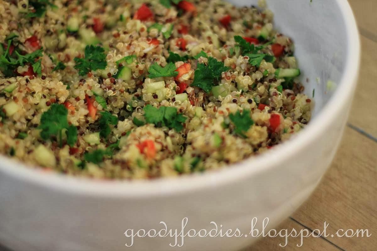 GoodyFoodies: Recipe: Quinoa salad with cucumber, red pepper & fresh ...