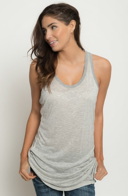 Buy online pinstriped tunic tank for women on sale