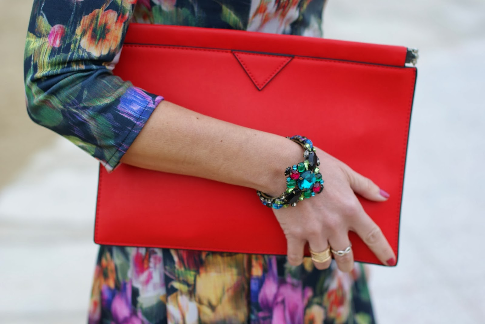 Mercantia salome bracciale, Zara red clutch, Fashion and Cookies, fashion blogger