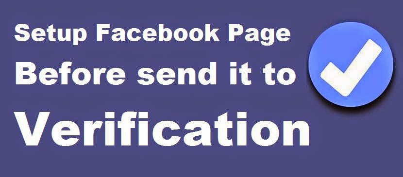 How to Setup Facebook Page Before send it to Verification image photo