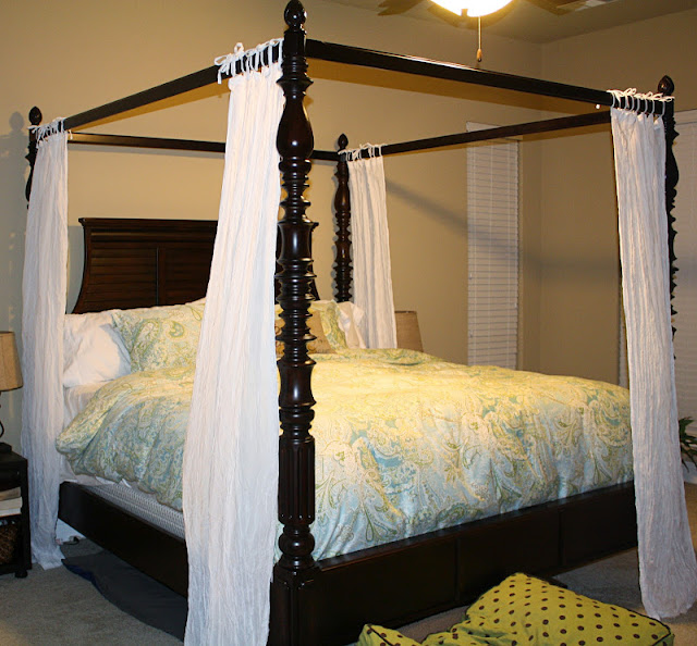 we picked out this canopy bed from ashley furniture and we really