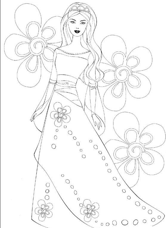 Bau Da Web Desenhos Da Barbie Para Colorir