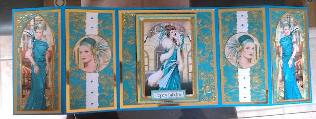 debbi moore art deco galaxy cd rom handmade card
