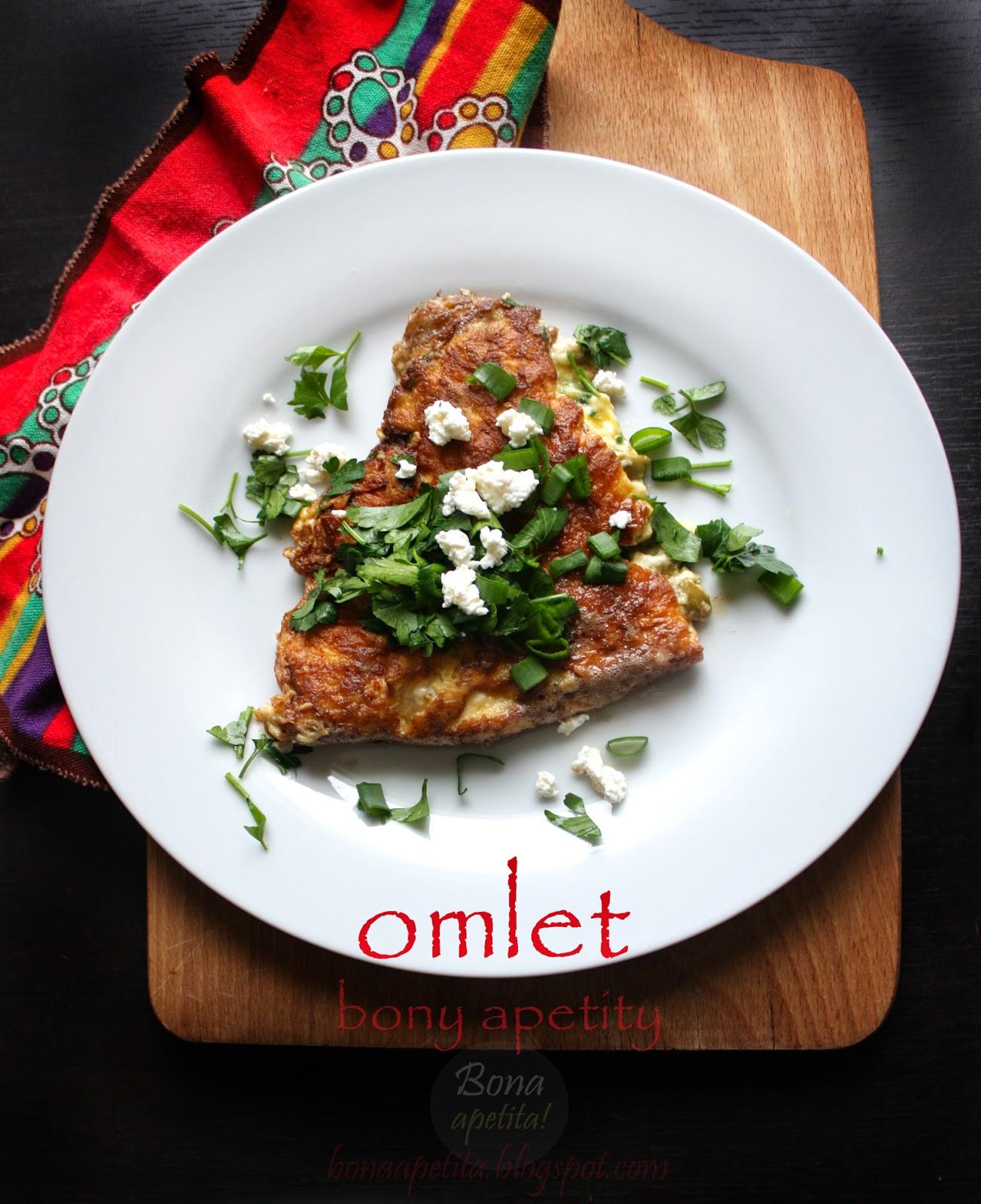 pyszny omlet wegetariański
