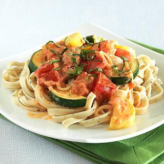 Zucchini, Tomato and Basil Pasta - The Fitness Freak