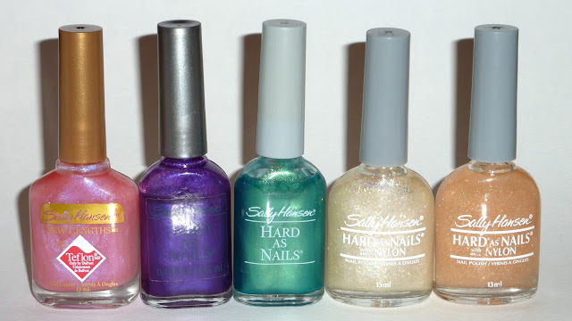 Sally Hansen - Rose Opal, Metalworks Frost, Green Gold Frost, Take A Bow, Encore