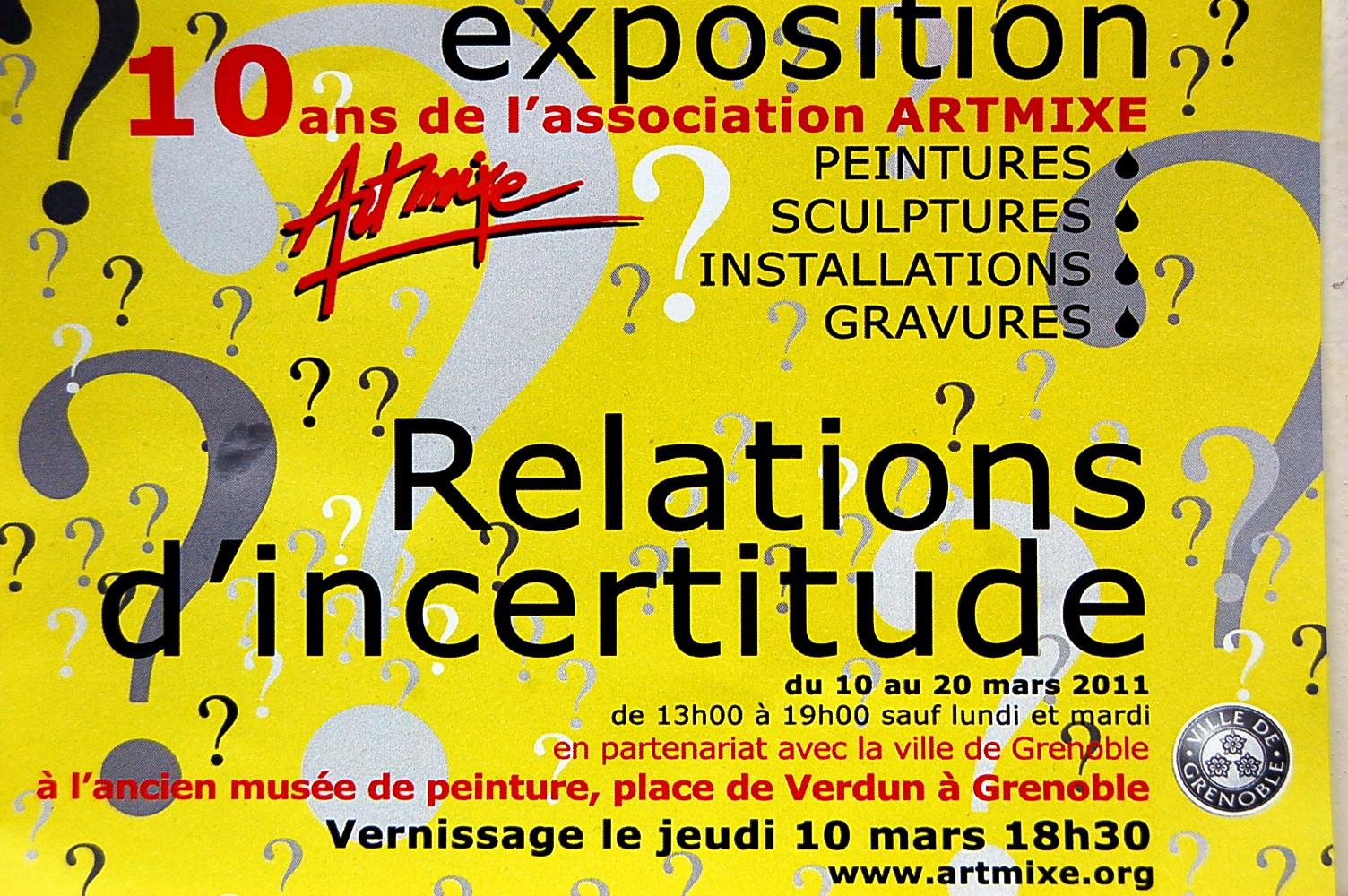 BONNIVARD Pascale: Exposition collective - Ancien musée de Peinture de Grenoble (10 ans d' Artmixe)