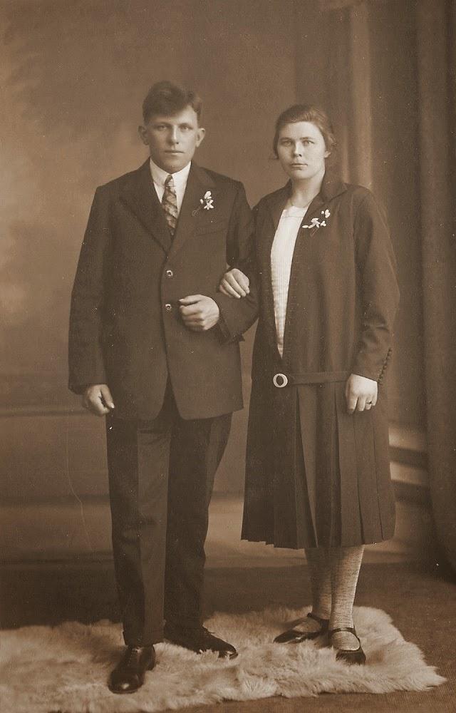 Trouwfoto Fokke Akker en Hinke Visser (1928)
