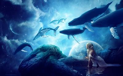 Papel de parede de fantasia baleias voando em sonho em hd 1080p. Download fantasy whales wallpapers and fantasy desktop backgrounds, images in hd widescreen high quality resolutions for free.